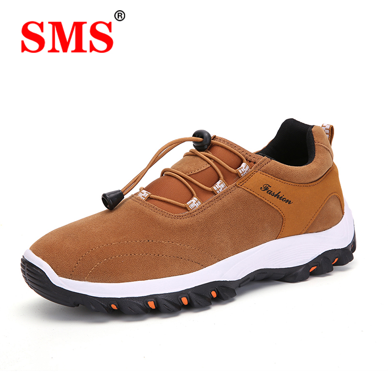 SMS Hiking Shoes Outdoor Camping Shoes Men Breathable Climbing Trekking Mountain Boots Mens Fishing Hunting Sport Sneakers Shoes