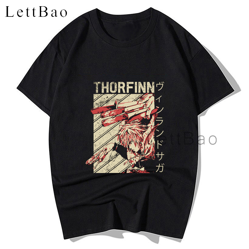 VINLAND SAGA Thorfinn Manga T-shirt Fashion Anime Shirt Crewneck Popular Man Pure Cotton Men Tshirt Harajuku Oversized T Shirt(China)
