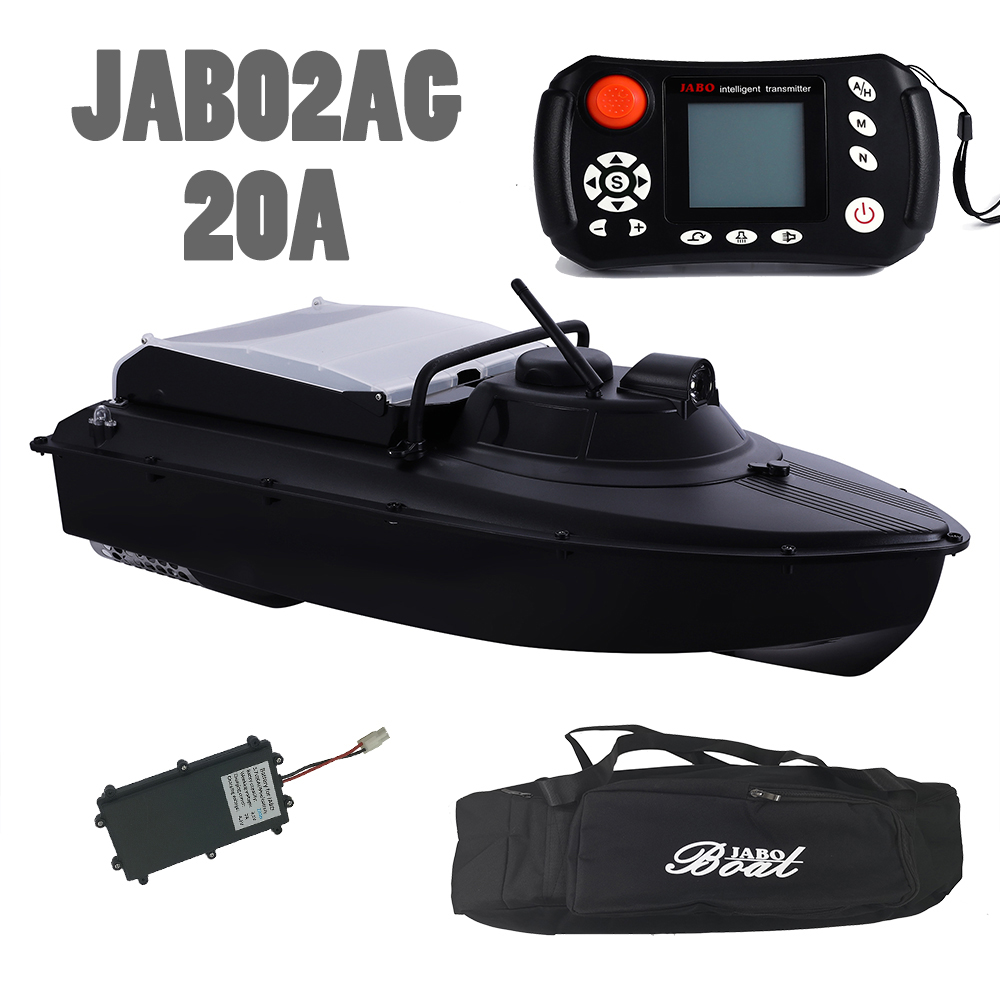 Russian Warehouse JABO2AG-20A+knapsack GPS Automatic Navigation Bait Boat 2.4G