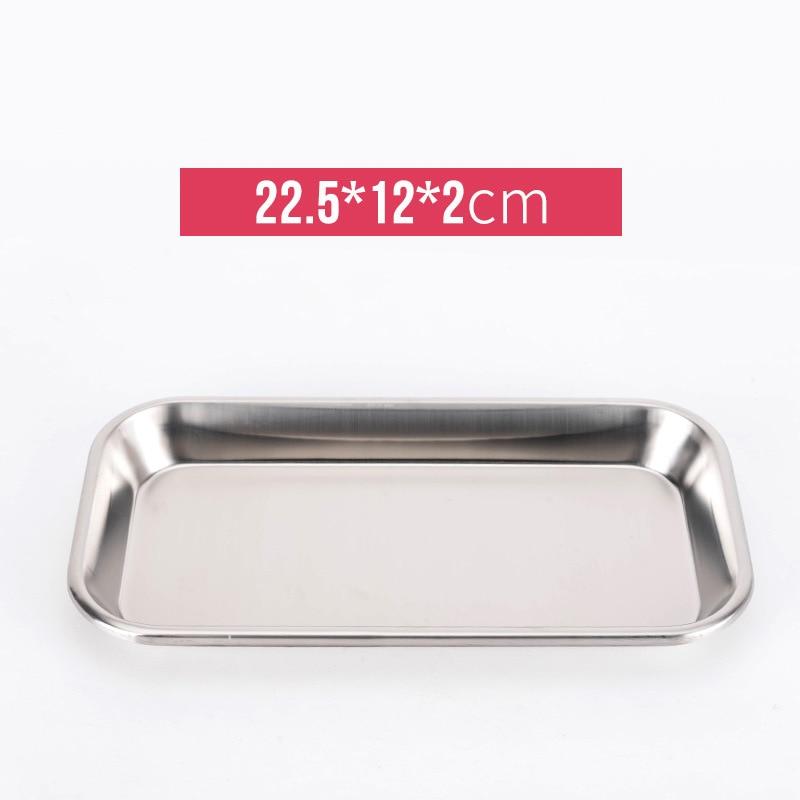 2 шт. 12 см x 22,5 см из нержавеющей стали стоматологический держатель тарелка блюдо Стоматологический Инструмент Лаборатория хирургический ло...
