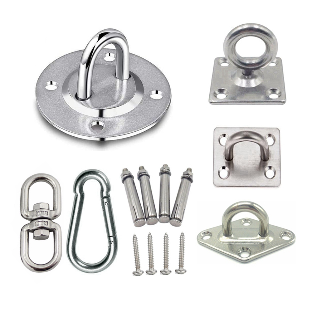Stainless Steel Suspension Bracket Hammock Mount Ceiling Hook Anchor Hanger For Gym Training Aerial Yoga Sex Swing Hanging Kit