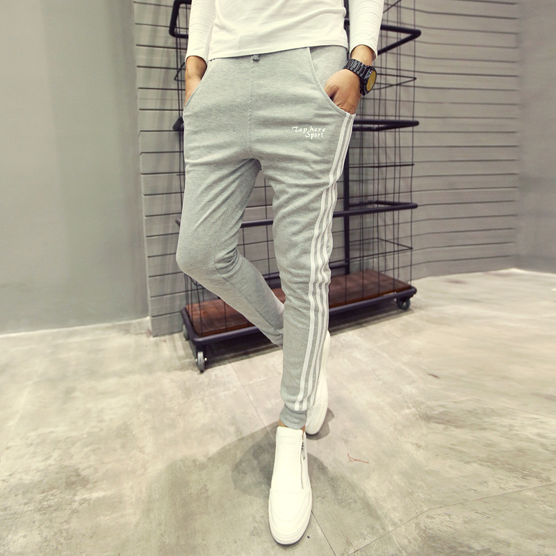 Hot Selling MEN'S Sweat Pants Spring And Autumn MEN'S Sweatpants Korean-style Three Bars Fashion Slim Fit Harem Gymnastic Pants