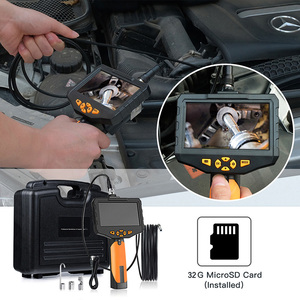 Image 4 - 5.5 مللي متر الصناعية المنظار 1080P HD الرقمية المزدوج عدسة كاميرا منظار فحص مقاوم للماء 4.5 بوصة LCD ثعبان كاميرا مع بطاقة 32 جيجابايت TF