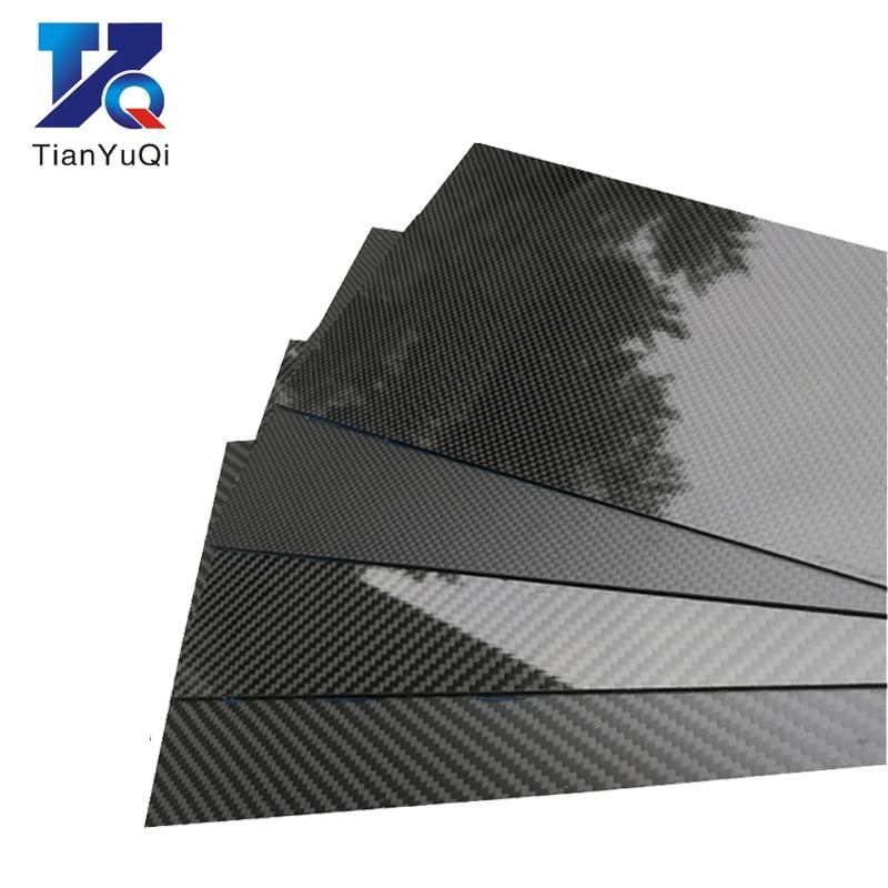 3 K Placa De Fibra De Carbono 200x250mm 100% Placa de Carbono Puro 1mm 2mm 3mm 4mm 5mm de Espessura de Material De Fibra De Carbono Para RC UAV/Brinquedos