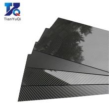 3K Carbon Fiber Plate 200x250mm 100%Pure Carbon Board 1mm 2mm 3mm 4mm 5mm Thickness  Carbon Fiber Material For RC UAV/Toys