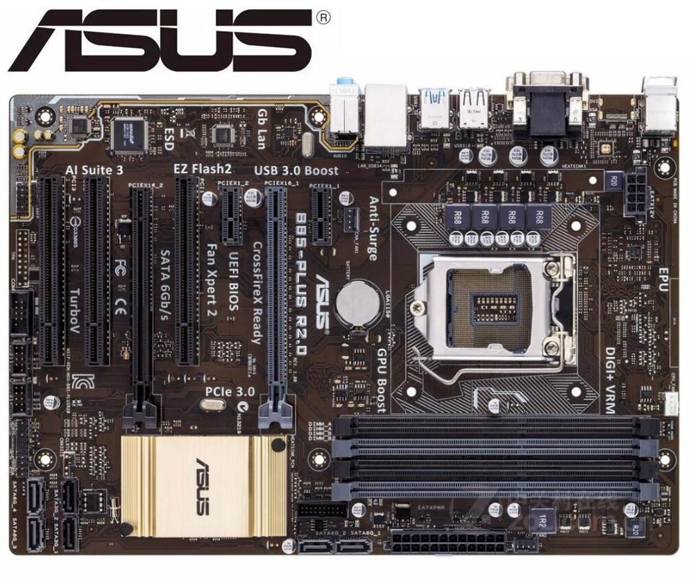Desktop Motherboard Asus B85-PLUS R2.0 Socket LGA 1150 I7 I5 I3 DDR3 SATA3 USB3.0 ATX Mainboard PC