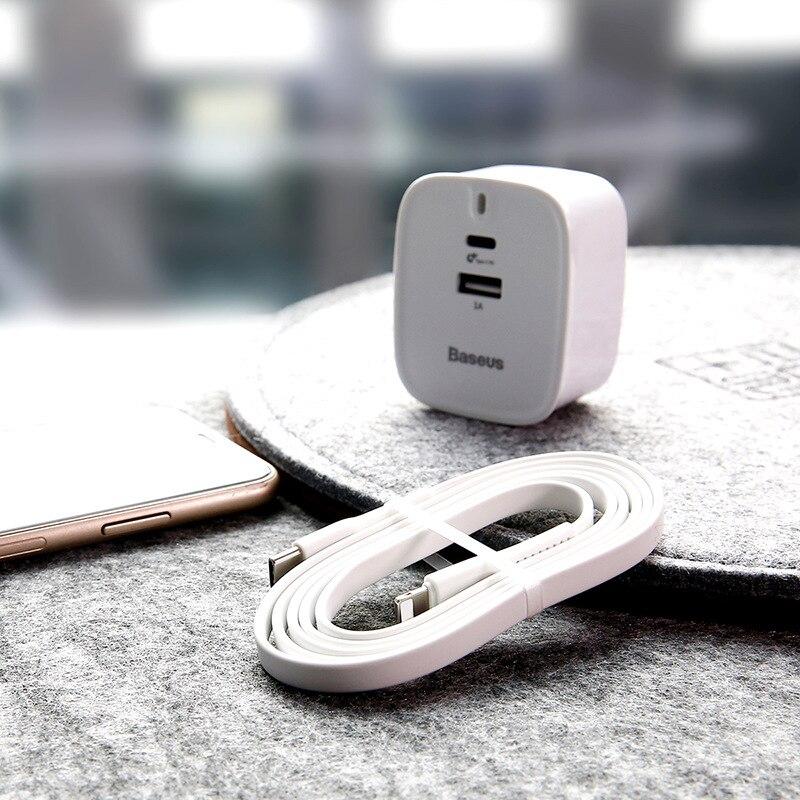 BASEUS Fang Zhi Ype-C Flash Charge Set PD + U Port 55 V/1A с 1 M C для IP Flash Charge PD Wire 30w Цветочные компасы