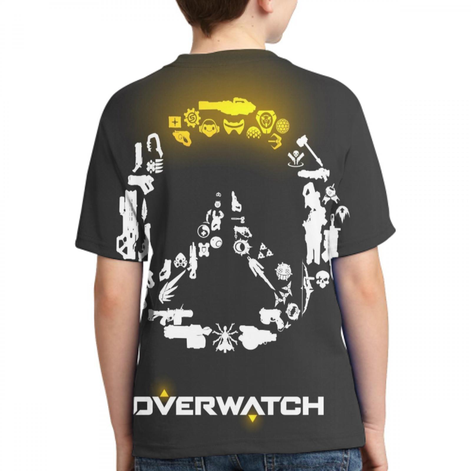 printer overwatch casual t shirt custom ladies/mens oversized t shirt overwatch poster boys/girls t shirt 1