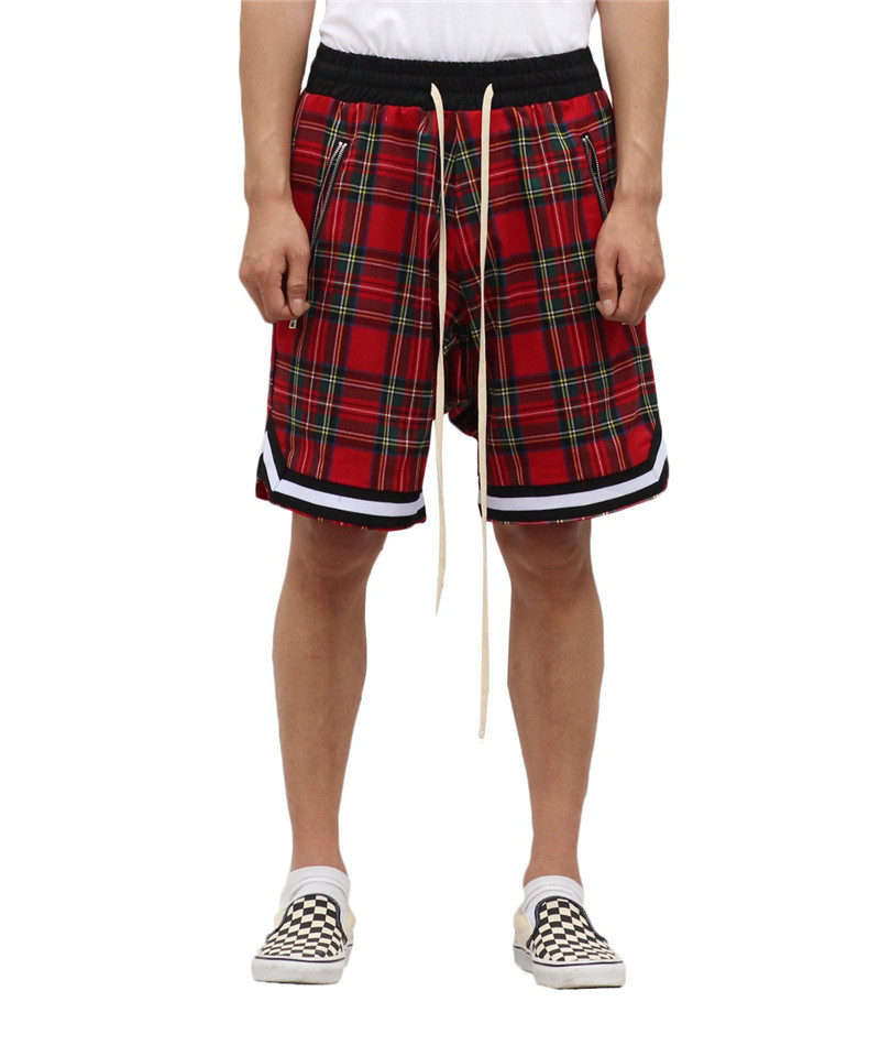 Scottish Style Shorts Men's Retro Plaid Basketball Sports Outdoor Casual Hip Hop Trend Pants Crazy Muscle
