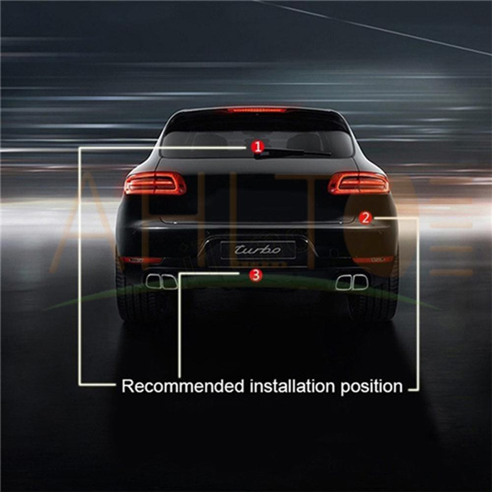 1 sztuk przeciwkolizyjne tylne klasy samochodów Laser Taillight 12V LED światła przeciwmgielne samochodu hamowania samochodu lampy parkingowe światło ostrzegawcze dla Car Styling