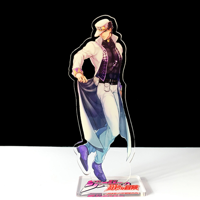 16cm JOJO JOJO's Bizarre Adventure Kakyoin Noriaki Polnareff dio acrylic stand figure model plate holder cake topper anime cool 4