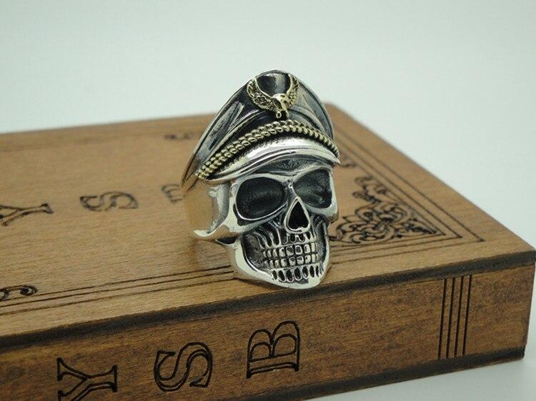 Acier inoxydable vif crâne charme hommes anneaux fête Punk Rock mode Cool bijoux