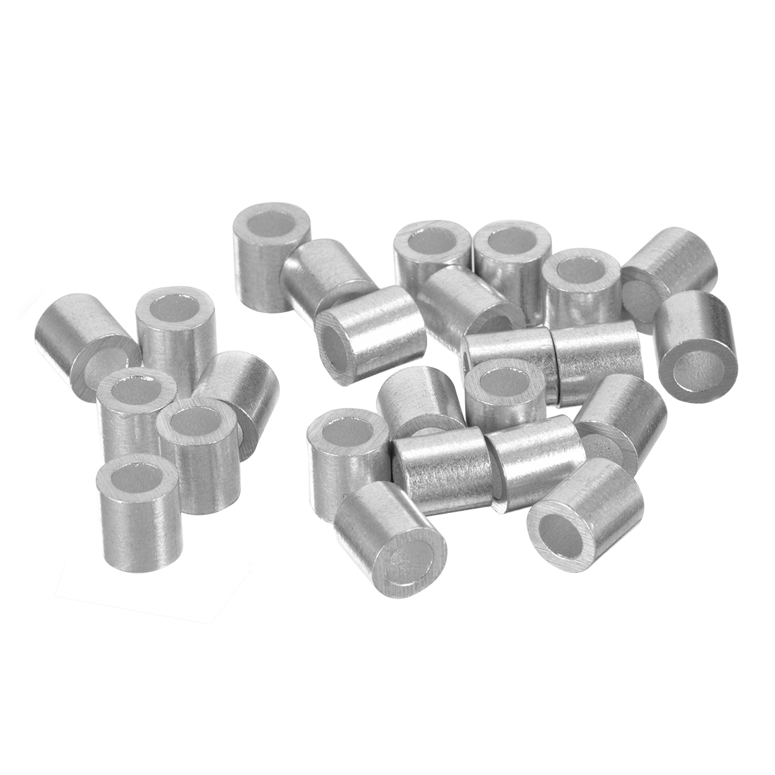 Uxcell 4.5mm 11/64-inch Cable Wire Rope Aluminum Sleeves Clip Crimping Loop 25pcs