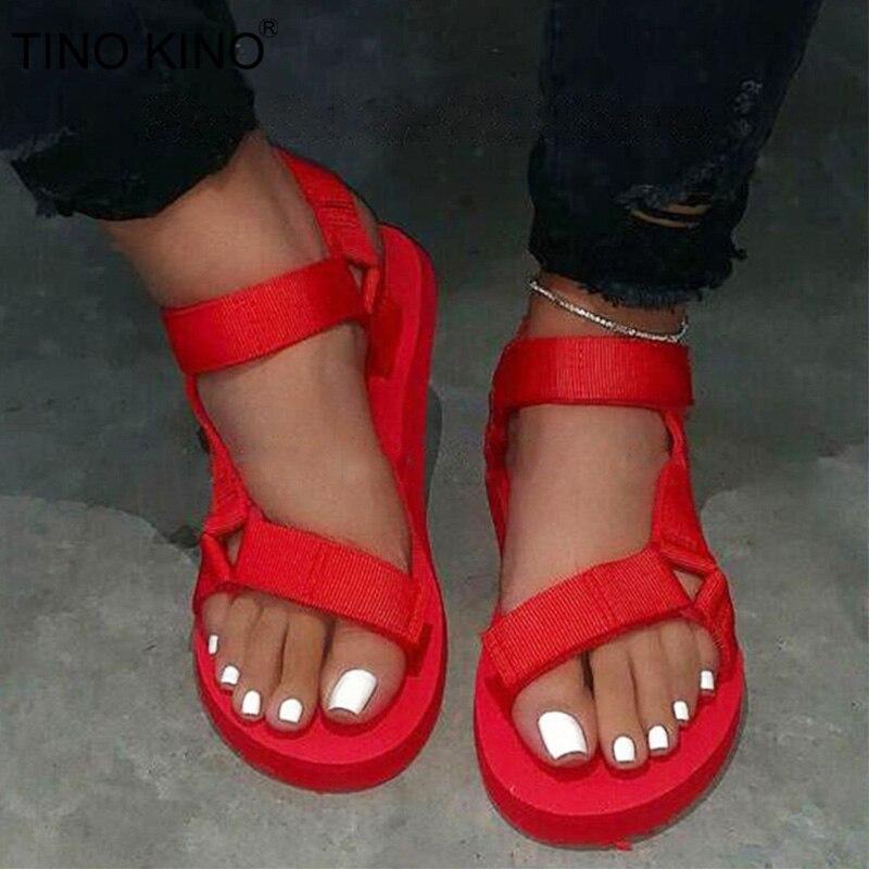 Summer Ladies Outdoor Soft Sandals Woman Slip On Buckle Strap Foam Sole Sandals Ladies Outdoor Casual Beach Slippers Plus Size