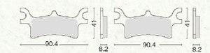 Image 3 - 3 Pairs Front Rear Brake Pads For Polaris Sportsman 400 500 700 800 EFI 2003 2004 2005 2006 2007 2008