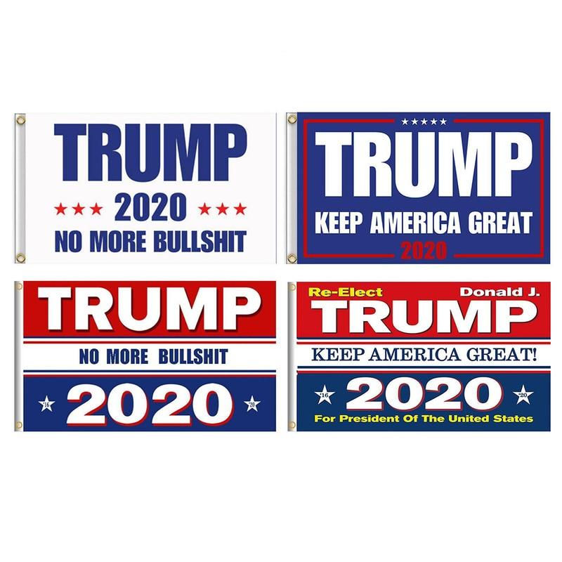 TRUMP 2020 Flag 3x5Ft MAGA REELECT,KEEP AMERICA GREAT President No more Bullshit