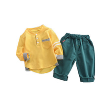 Baby Boys suit New two-piece long-sleeved T-shirts and clothes