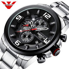 NIBOSI Big Mens Watches Luxury Top Brand Quartz Wrist Watch Creative Big Dial Stainless Steel Sport Watch Men Relogio Masculino