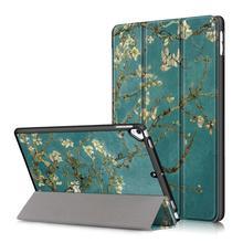 цена на For iPad 2019 Case 10.2 inch Tablet Folio Stand Cover, Auto Sleep Wake Trifold Ultra Slim Shell for Apple iPad 7 10.2