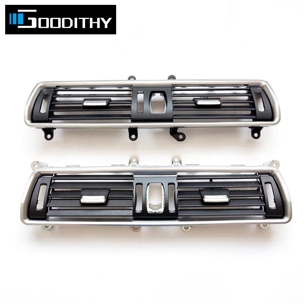 Передняя консоль, хромированный центральный кондиционер, решетка на вентиляционное отверстие для BMW 5 серии GT F07 528 535 550 2010-2017 64229142584 64229142590