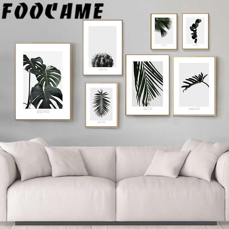 Tropic Cactus Flamingo Nordic Canvas Poster Wall Picture Home Decor Art Print