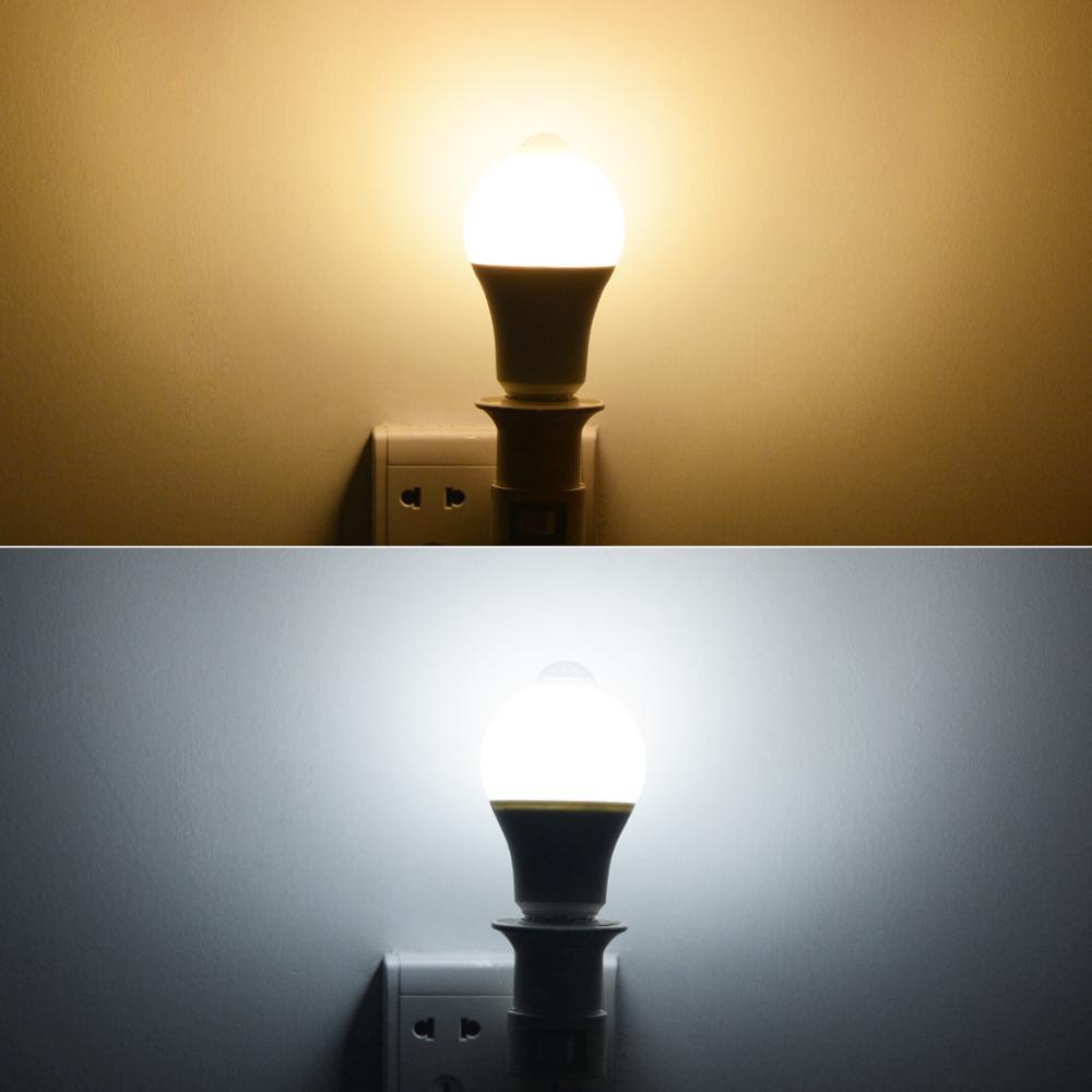 E27 Bulbs Body Motion Detector Smart Night Lamps 110v 220v led bulbs for Corridor Stairs 12W 20W Home Light Night Security Bulbs