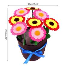 P15C DIY Flower Pot Potted Plant Toys for Kids Children Educational Handmade Crafts