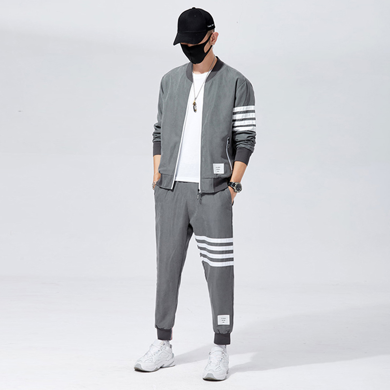 2020 Brand Autumn Winter Men Sets Pants Clothing Sweatsuit Fashion Clothes Trousers Sweatpants Sportswear Tracksuits Long Sleeve|Men