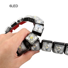 1pcs 12V Car DRL Driving Fog Light 6-14 LED COB Daytime Running Flexible Brake Lamp 8000K-8500K Hot Sale