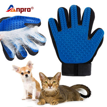Pet Soft Silicone Glove Dog Cat Grooming Hair Deshedding Brush Comb Animal Hair Removal Hand Gloves Animal Cleaning Massage Comb 1