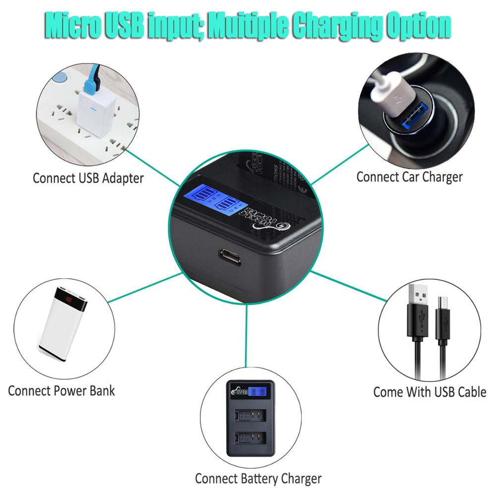 LP-E12 LP E12 LPE12 Battery & LCD USB Dual Charger for Canon EOS M EOS M10 M50 M100 100D Kiss X7 Rebel SL1 Camera 6