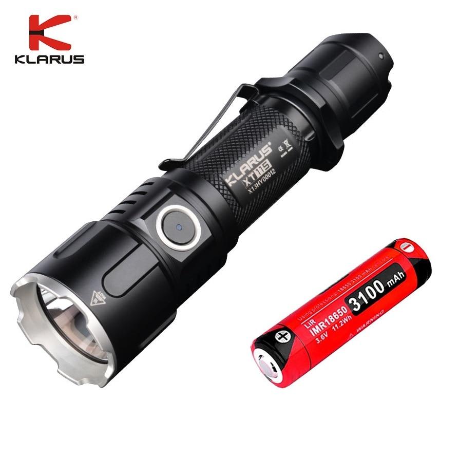 Новый KLARUS XT11GT CREE XHP35 светодиодный тактический светодиодный фонарь 2000 лм 4 режима + Бесплатный usb порт и 18650 батарея для самообороны