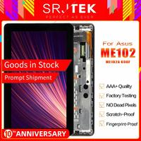 Stjtek For Asus MeMO Pad 10 ME102 ME102A K00F MCF 101 0990 01 FPC V4.0 LCD Display Digitizer Touch Screen Assembly With Frame|touch screen|touch screen for asus|me102a touch -