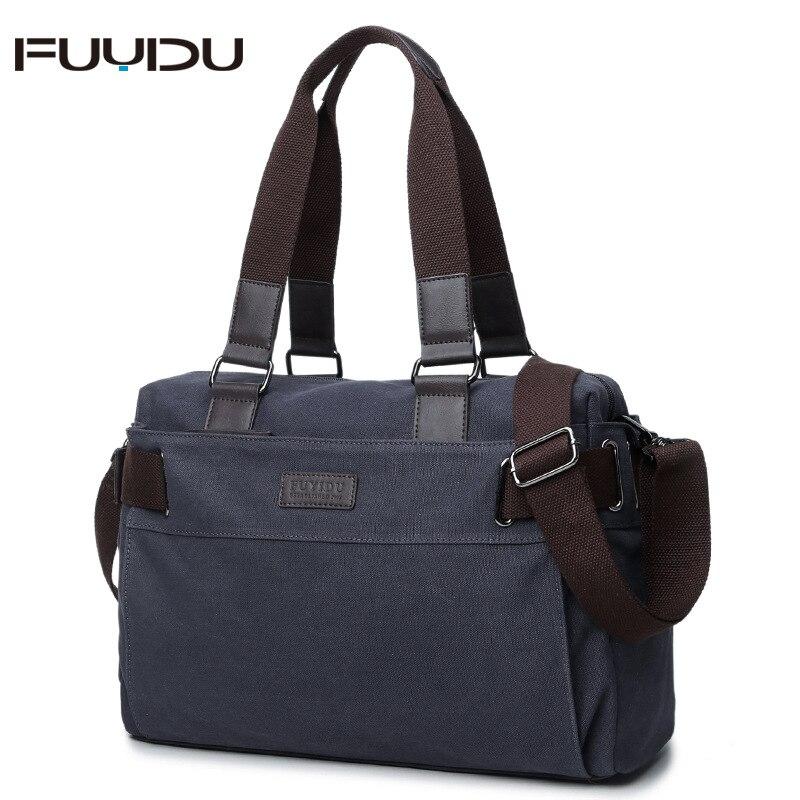 Korean-style MEN'S Single-shoulder Bag Canvas Handbag Cross Men's Bag Casual Retro Computer Bag Travel Bag Shoulder Bag Fashion