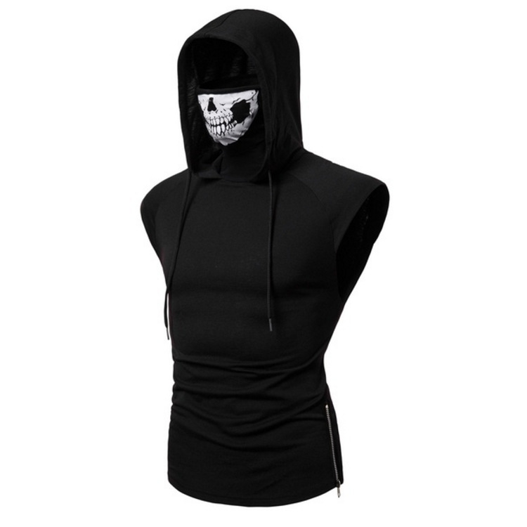 Mens Hoodies Hooded Vest Plus Size Hooded Fashion Sleeveless Hoodies For Men