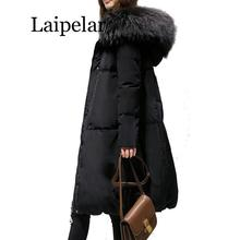 2019 New Big Size Winter Woman Coat Women Loose Thick Warm Jacket Female Faux Fur Collar Hooded Down Cotton Coat Parkas Outwear 2016 european and american female winter hooded down jacket big yards thick warm coat hot new