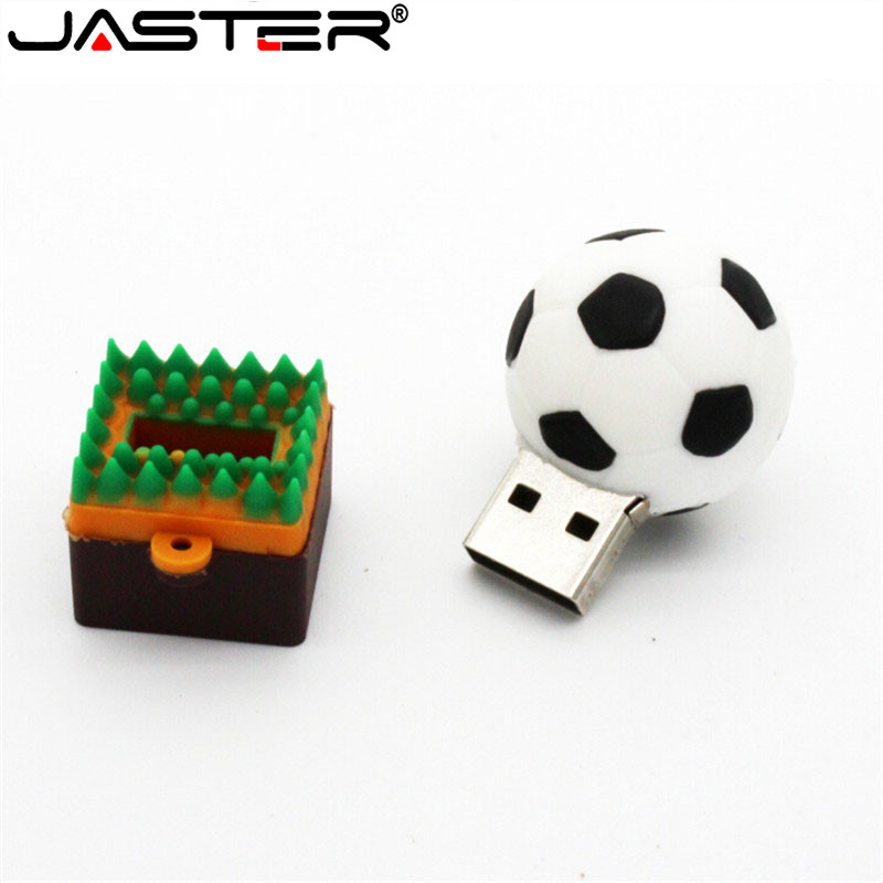 JASTER Football Basketball Volleyball Usb Flash Drive USB 2.0 Memory Stick Pen Drive 4GB 16GB 32GB 64GB Boy Gift Real Capacity