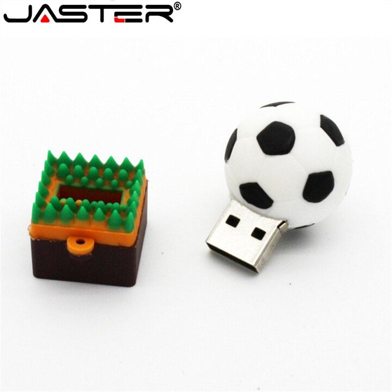 JASTER Football Basketball Volleyball Usb Flash Drive USB 2.0 Memory Stick Pen Drive 4GB 16GB 32GB 64GB Boy Gift Real Capacity