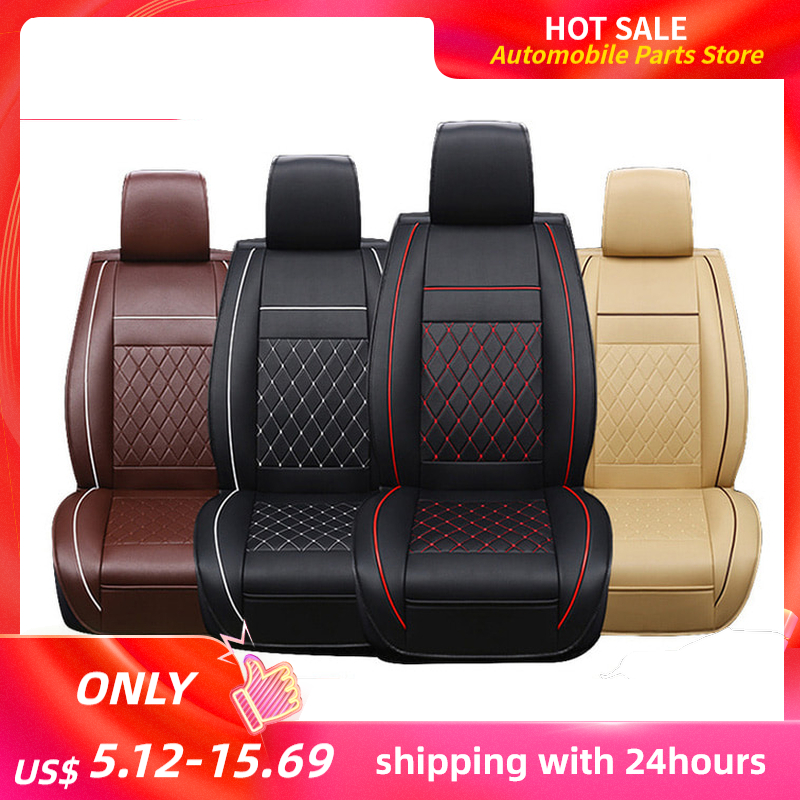 KKMOON 1pc Universal All Car Leather Support Pad Car Seat Covers Cushion Accessories autocovers for cars