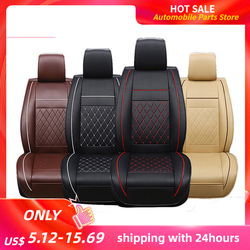 KKMOON 1 قطعة العالمي جميع الجلود سيارة دعم وسادة مقعد السيارة يغطي وسادة اكسسوارات autocover للسيارات