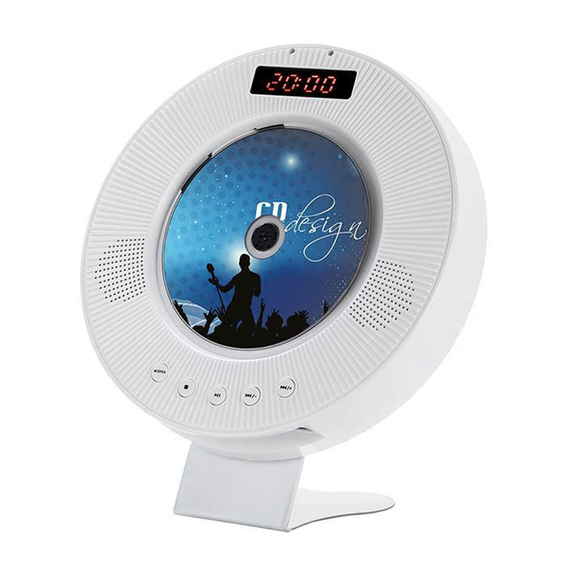 Wall Mounted CD Player Surround Sound DVD MPlayer Hifi FM Radio Bluetooth Portable Music Player Remote Control Support USB TF Ca