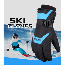 Winter Ski Gloves For Men Women Heated Waterproof Skiing Glove Wear Resistant Thermal Mittens Outdoor Sports Snow Guantes Calor