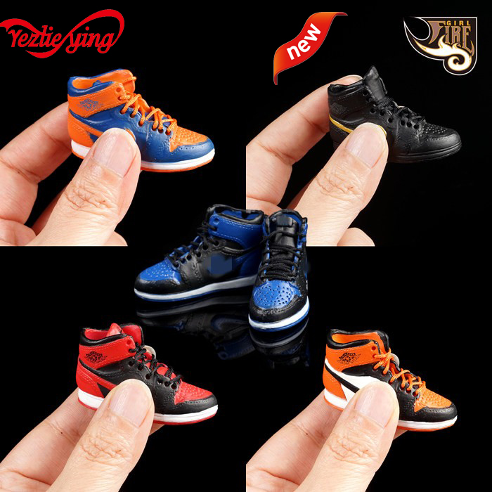 "1//6 Scale Basketball Shoes Sneaker Model for 12/"" Action Figure"