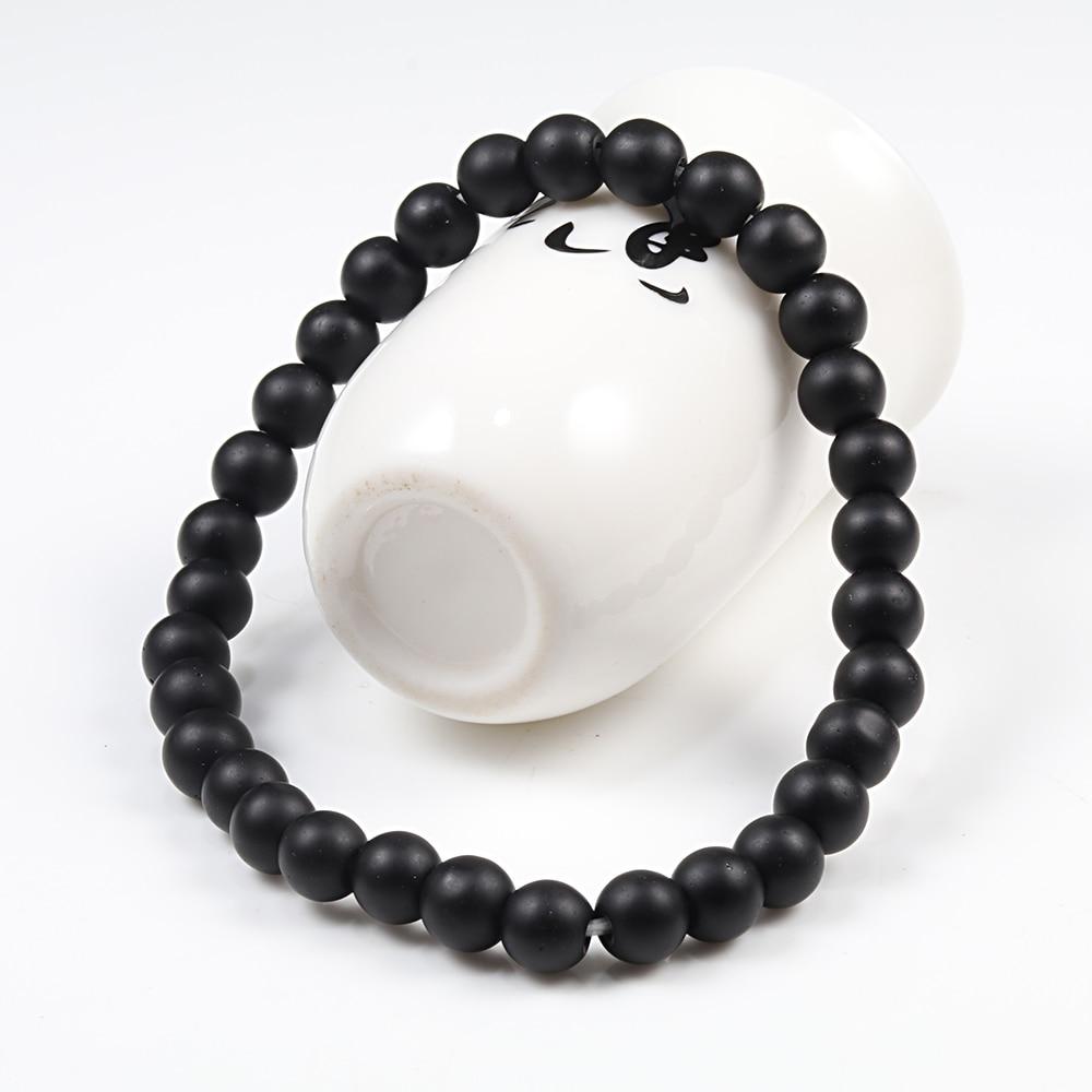 Hot Trendy Men Lava Stone Couples Distance Bracelets Natural Stone White Black Yin Yang Beaded Bangles For Women Friend Pulseira 1