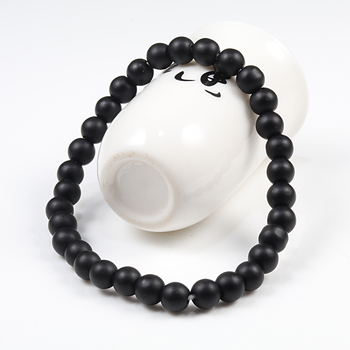 Hot Trendy Men Lava Stone Couples Distance Bracelets Natural Stone White Black Yin Yang Beaded Bangles For Women Friend Pulseira 1