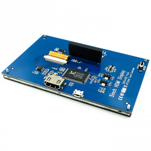 Image 4 - LCD מודול 5.0 אינץ Pi TFT 5 אינץ מגע Resistive מסך 5.0 אינץ LCD חומת מודול HDMI ממשק לפטל pi 3 +/B +/2B