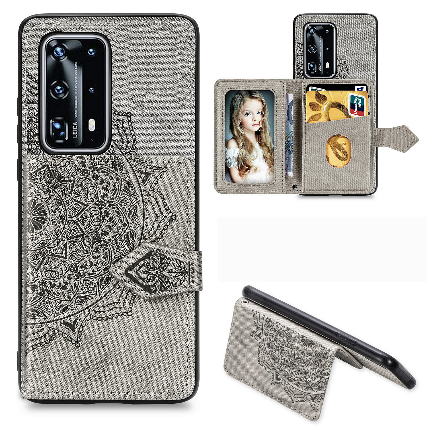 Flip Wallet Cloth Texture Phone <font><b>Cases</b></font> For <font><b>Huawei</b></font> P40 P30 Mate 30 Pro Lite Y5 Y6 <font><b>Y7</b></font> Y9 Prime Pro <font><b>2019</b></font> Honor 9X 9A 8A Back <font><b>Cover</b></font> image