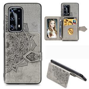 Odwróć portfel tkaniny tekstury etui na telefony dla Huawei P40 P30 Mate 30 Pro Lite Y5 Y6 Y7 Y9 Prime Pro 2019 Honor 9X 9A 8A tylna okładka