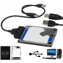 """2,5 """"22 P 2,0 USB zu SATA Kabel Serial ATA Adapter Computer Hard Fahrer Verbindung Kabel Für HDD/ SSD Laptop Festplatte"""