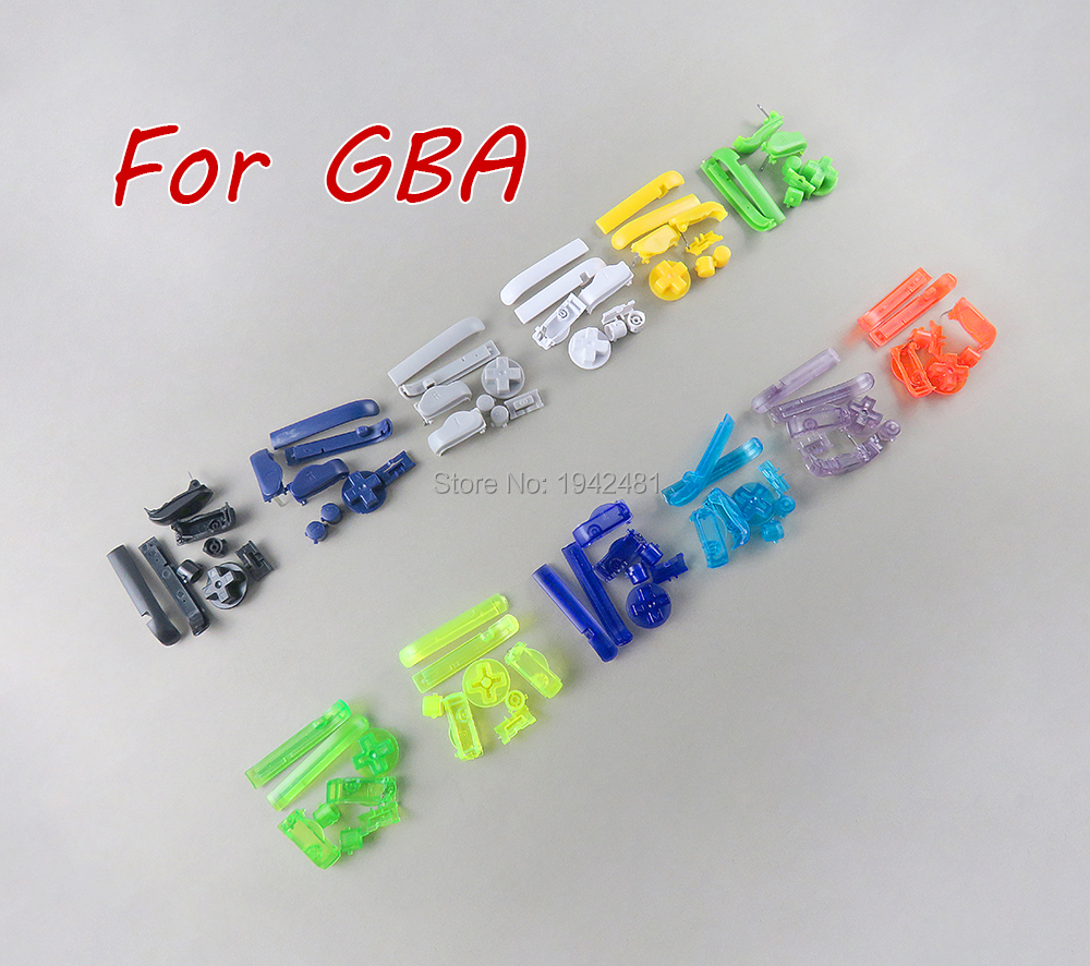 FOR GBA D Pads Power ON OFF Buttons For Gameboy Advance A B L R Buttons Frame For GBA Buttons